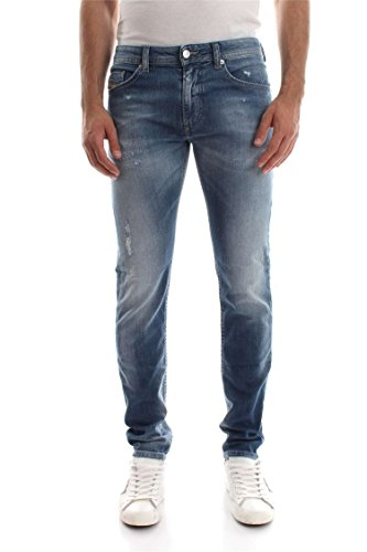 Diesel Men's Jeans Thommer Slim Fit Cotton Blue Mid-Rise 00SW1Q -084ND - 01 (W 33 - L 32) ()