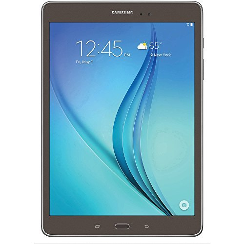Samsung Galaxy 9.7-Inch 1.2 GHz Quad Core Processor, 1.5GHz Memory, 16GB SSD Touchscreen Tablet with MicroSD Card Slot, Bluetooth, Wifi, Dual Camera, GPS, Android 5.0 OS (Smoky Titanium) from Samsung