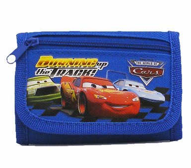 Disney Car Blue Wallet With Mini Flute