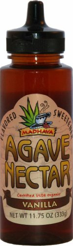 Madhava Organic Vanilla Agave, 11.75-Ounce (Pack of 6)