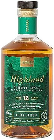 Este whisky puro de malta excepcional tiene un aroma intenso de frutas tropicales y un sutil toque a