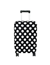 Fvstar Washable Luggage Cover,Suitcase Protective Bag,Luggage Dust Proof Cover (L, White Dot)