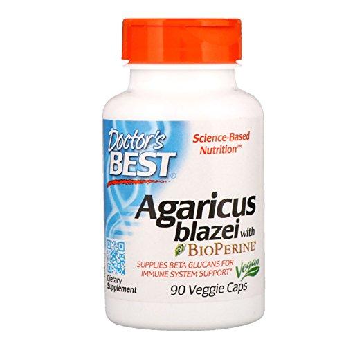 Doctor's Best Agaricus blazei, Non-GMO, Vegan, Gluten Free, Soy Free, 400 mg 90 Veggie Caps Agaricus Blazei Mushroom Extract