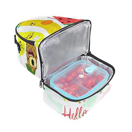 el ajustable de para frutas almuerzo Alinlo Bolsa hombro Summer de Hello el correa para diseño térmica piña con wxx81R6a
