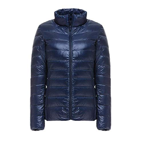 Adelina Ladies Quilted Jacket Fashion Autumn Warm Mode Oversize Winter Down Coat Lightweight Solid Color Soft Comfortable Longsleeve Transitional Outerwear Marine