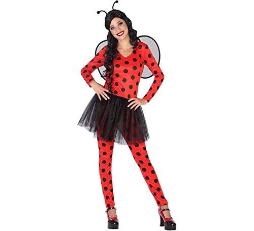 Atosa 54242 Costume Princess, Size M-L Ladybug, Men, Women, Boys Girls, -