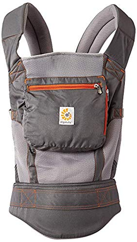 ol Air Mesh Performance Ergonomic Multi-Position Baby Carrier with X-Large Storage Pocket, Stone Grey ()