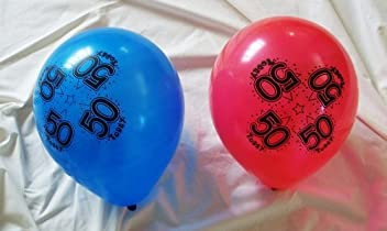 BCBGMAXAZRIA 50 TODAY BIRTHDAY BALLOONS CAN BE INFLATED WITH HELIUM OR AIR male OR female