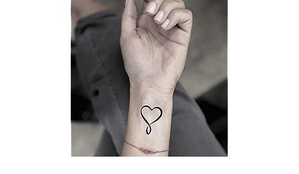 Tatuaje Temporal de Corazón infinito (2 Piezas) - www.ohmytat.com ...