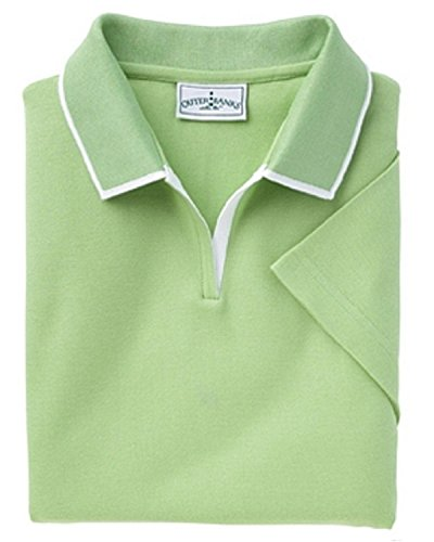 Outer Banks 6094 Ladies Egyptian Diamond Knit Polo Shirt with Tipping M XL 2XL Spring Green ()