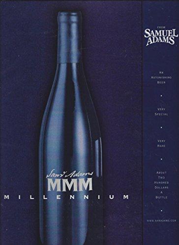Mmm Beer - MAGAZINE ADVERTISEMENT For 1999 Samuel Adams Beer MMM Millennium