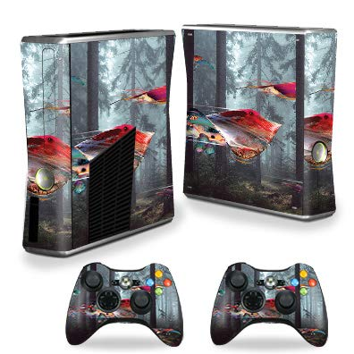(MightySkins Skin Compatible with Xbox 360 S Console - Stringray Forest | Protective, Durable, and Unique Vinyl Decal wrap Cover | Easy to Apply, Remove, and Change Styles | Made in The USA)