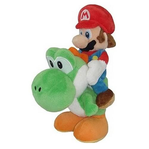 Little Buddy Super Mario Plush - Mario and Yoshi Plush, 8-Inch