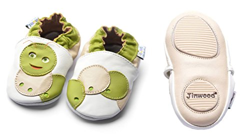 Jinwood designed by amsomo - Patucos para niña Multicolor - sweet worm white mini shoes