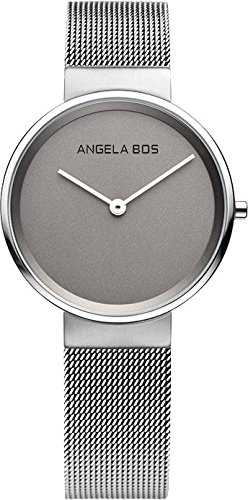 BOS His and Hers Ultra Thin Simple Stainless Steel Quartz Wrist Couple Watch for Men Women Bracklet 8010 by BOS (Image #2)
