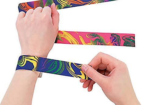 Tie Dye Slap Bracelets - 12 per unit ()