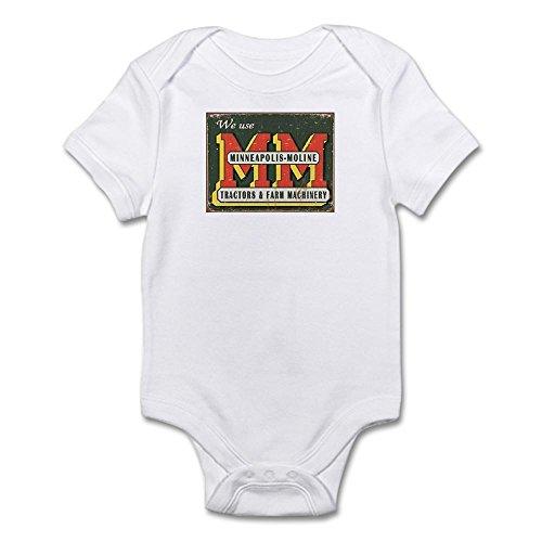 CafePress 34-1505_Minneapolis_Moline_Tractors_Logo_Tin_Sign Cute Infant Bodysuit Baby Romper