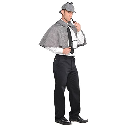 amscan Sherlock Holmes Costume | Standard Adult Size -