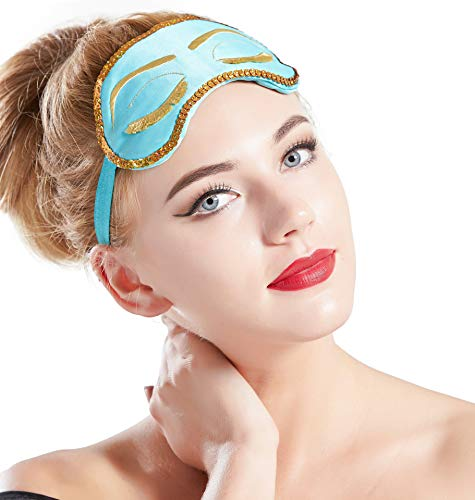 - BABEYOND Sleeping Eye Mask for Women Cute Eye Mask Sleeping Beauty Eye Mask Eye Cover Mask Sleep Mask (blue)