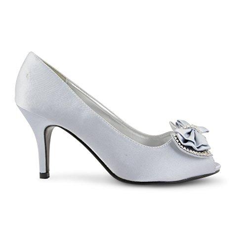 plata vestir Sensation mujer de para Zapatos Footwear negro negro 4BftqxHww8