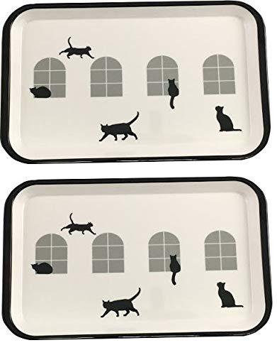 Bandeja para servir silueta de gato, rectangular, beige ...