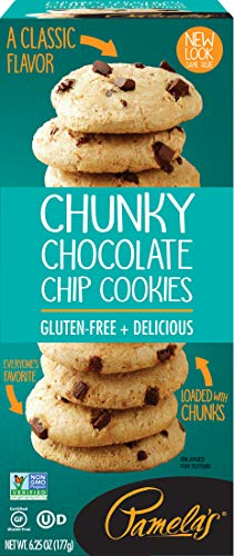 Pamela's Chunky Chocolate Chip Gluten Free Cookies, 6.25 oz boxes, 6Count (Best Chunky Chocolate Chip Cookies)