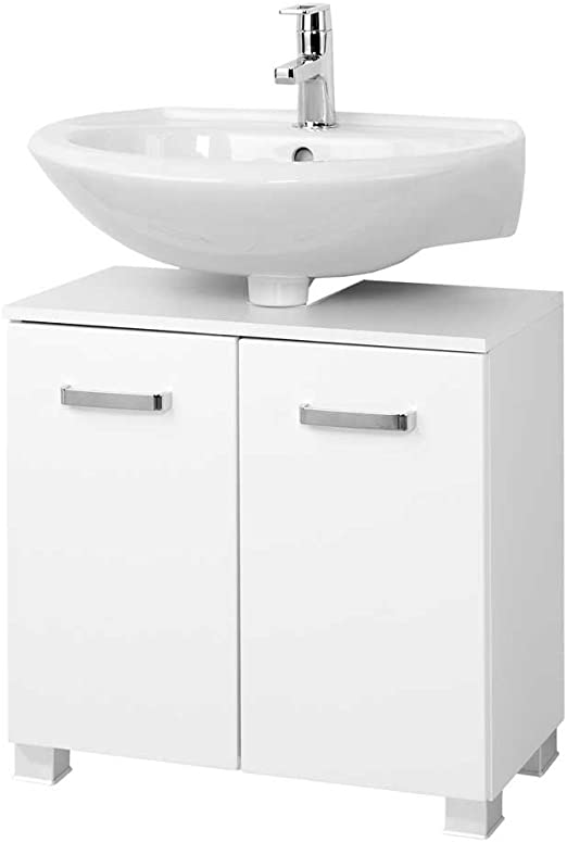 Pharao24 Waschtischunterschrank In Hochglanz Weiss Breite 70 Cm Amazon De Kuche Haushalt