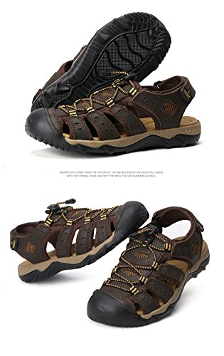 LXXAMens Trekking Senderismo Urbana Secado De Deportivas De Rápido Playa Velcro Sandalias Brown2 Calzado Zapatos Deportivo Turismo Verano PqFxAPEr