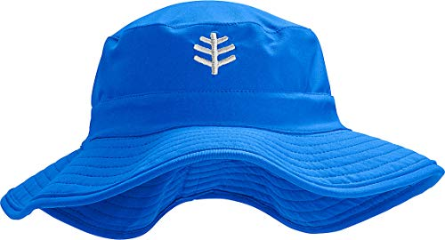 Coolibar UPF 50+ Kids' Surfs Up Bucket Hat - Sun Protective (Small/Medium- Baja Blue)