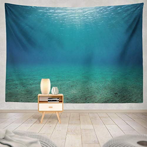 WAYATO Wall Tapestry,Tapestry Wall ArtUnderwater Seascape Sandy Natural Sunlight Abstract Wall Tapestry for Bedroom Living Room Dorm Decor 80x60 Inches, Underwater