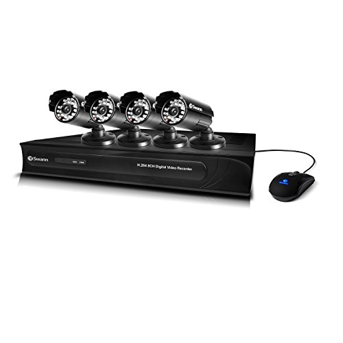 Swann SWDVK-8325N4-US DVR8-3250 8 Channel 960H Digital Video Recorder and 4 x PRO-615 Cameras (Black)
