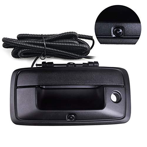 1500 Silverado Tailgate Chevrolet Handle (Chevy Silverado and GMC Sierra Rear View Camera Backup Tailgate Handle Camera for Silverado 1500 / Sierra 1500 (2014 2015 2016 2017),Tailgate Door Handle Replacement Camera(Color: Black))