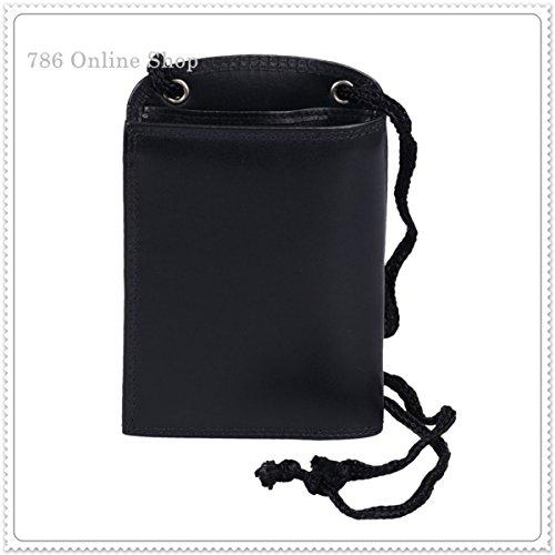 Leder Brustbeutel Brusttasche (193C) mit 5 Fächer + 3 Kreditkartenfächer Geldbörse Umhängetasche Neu