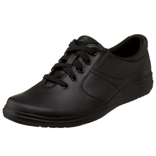 Grasshoppers Women's Stretch Plus Lace-Up Sneaker,Black,7.5 M US