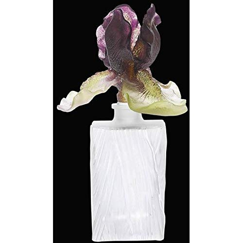 - Daum Crystal Iris Perfume Bottle Square 02755