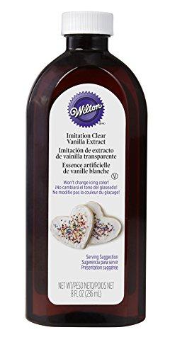 Wilton Clear Imitation Vanilla 8 Oz Bottle -