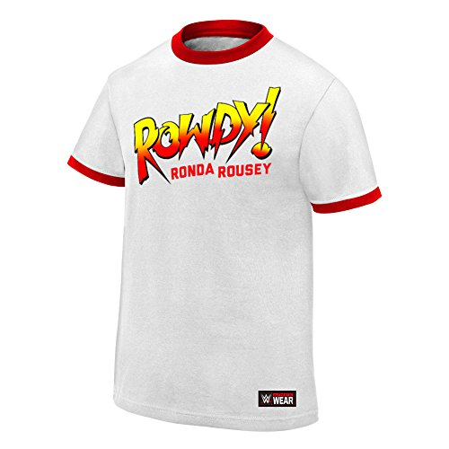 WWE Ronda Rousey Rowdy Ronda Rousey Authentic T-Shirt White Large by WWE Authentic Wear
