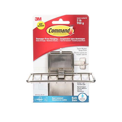 Command Soap Dish, Satin Nickel, 1-Soap Dish (BATH34-SN-ES)