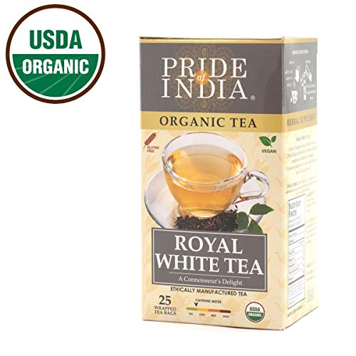 Estate Royal Green (Pride Of India - Organic Royal Indian White Tea, 25 Count (2-Pack))
