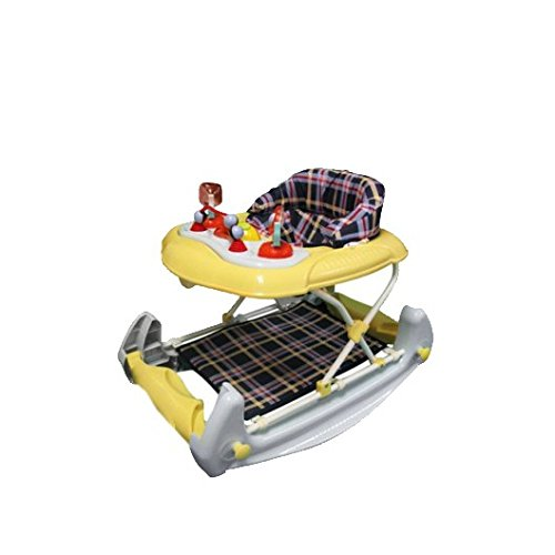 Big Oshi 2 in 1 Baby Activity Walker and Rocker, Sky Blue and Banana