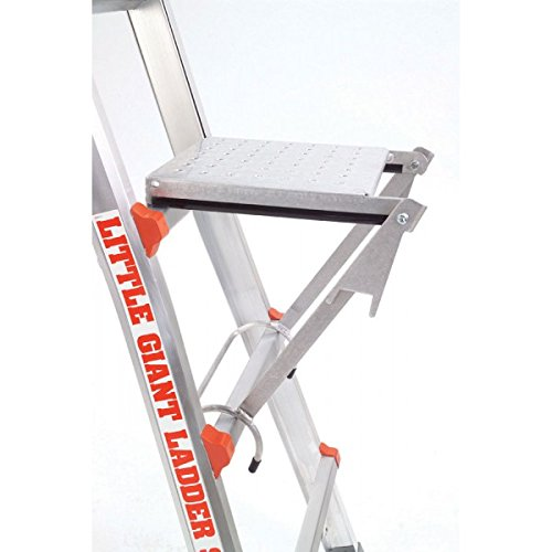 26 1A Little Giant Ladder Classic Champ Bundle - Includes 4 Accessories: Work Platform, Cargo Hold, 4ft Master Ladder Lock, & Wheels