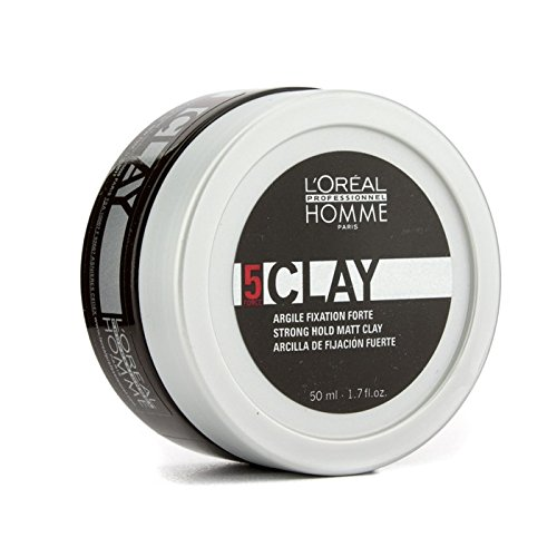 L'oreal 5 Clay Strong Hold Matt Clay for Men, 1.7 Ounce PerfumeWorldWide Inc. Drop Ship 13795