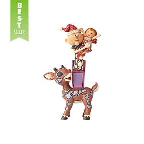 Enesco Traditions by Jim Shore Rudolph with Misfits Figurine 5.25 in