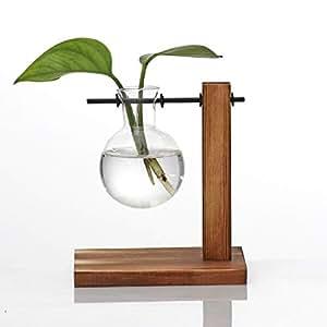 Amazon.com: Dergo ☀ Lámpara de mesa de cristal, jarrón ...