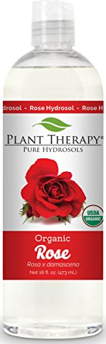 Plant Therapy Organic Rose Hydrosol. (Flower Water, Floral Water, Hydrolats, Distillates) Bi-Product of Essential Oils. 16 Ounce. (Therapy Water)
