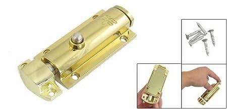 Tono eDealMax metal del oro automático Barril Perno de ventana de la puerta - - Amazon.com