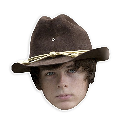 Dead Celebrities Halloween Costumes (Serious Walking Dead Carl Mask - Perfect for Halloween, Masquerade, Parties, Events, Festivals, Concerts - Jumbo Size Waterproof Laminated)