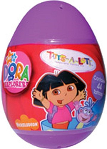 2 Dora the Explorer Easter Eggs filled with Temporary Tattoos -