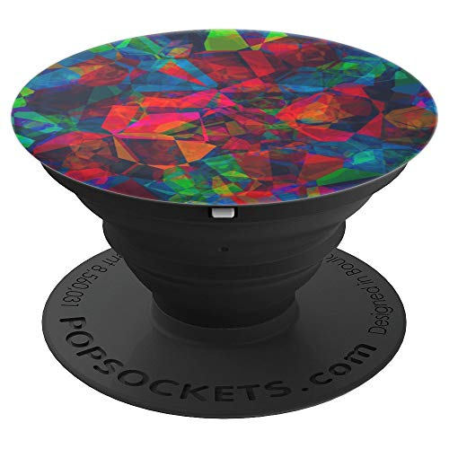 Retro Abstract Mosaic - PopSockets Grip and Stand for Phones and Tablets