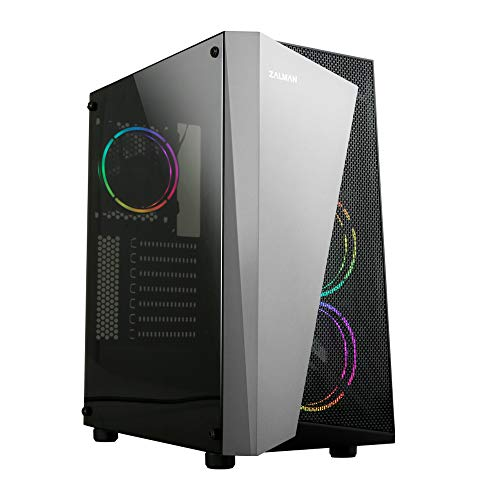 Zalman S4 Plus ATX Mid Tower Computer/PC Case with Full Acrylic Side Pandel, Pre-Installed Three 120mm Fans